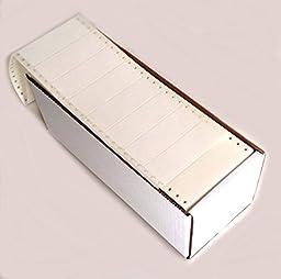 Linco White Pinfed Continuous, Pressure-Sensitive Labels, 3 1/2 x 1 15/16, Box of 5,000