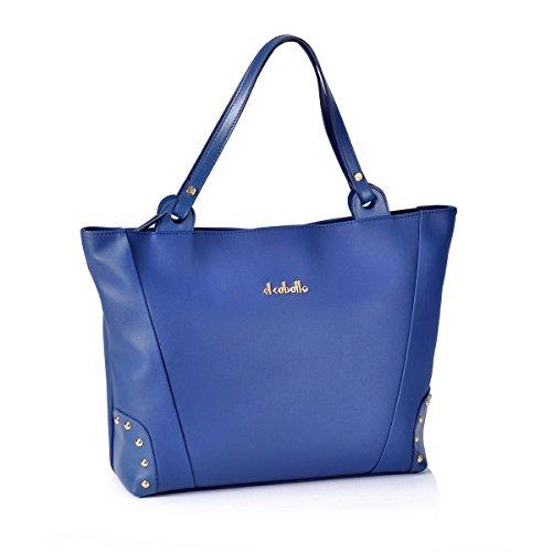 Mujer EL Bolso CABALLO de con Bolsos Shopping Outlet Azul para 1020 Mujer Tachuelas qBxBrw