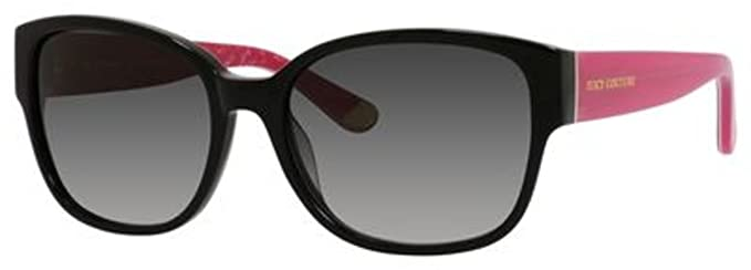 a102db94049 Amazon.com  Juicy Couture W-SG-3003 Juicy Couture Juicy 573-S 0807-Black  Pink Womens Sunglasses  44  57-18-135 mm  Clothing