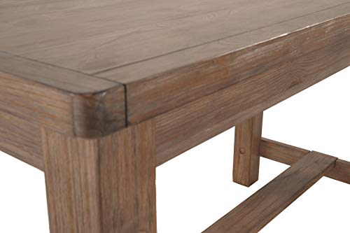 Ashley Furniture Signature Design - Pinnadel Counter Dining Table - Weathered Brown Finish w/ Gray Undertones by Signature Design by Ashley (Image #8)