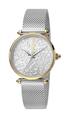Just Cavalli JC1L085M0085 316L Stainless Steel Mineral Crystal Deployment Buckle Watch