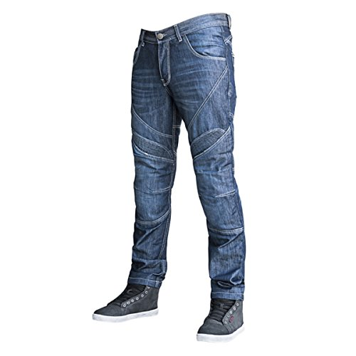Speed and Strength Rust and Redemption Men's Armored Moto Street Motorcyle Pants - Blue/Size 30X32 ()
