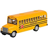 "Rhode Island Novelty 5"" Die Cast School Bus with Pull-Back Action 