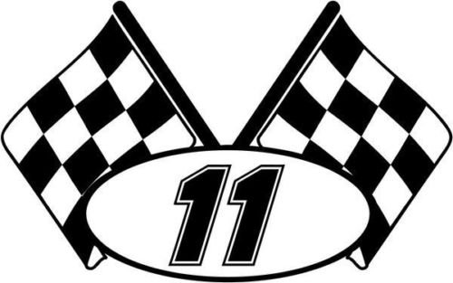 - Checkered Flag Nascar Racing Number 11 Graphic Car Truck Window Decal Sticker - Die cut vinyl decal for windows, cars, trucks, tool boxes, laptops, MacBook - virtually any hard, smooth surface