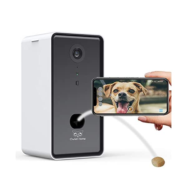Owlet Home | Pet Camera with Treat Dispenser & Tossing for Dogs/Cats, WiFi, 1080P Camera, Live Video, Auto Night Vision…