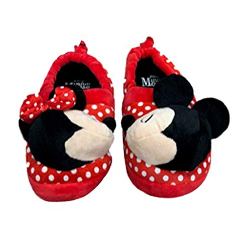 Minnie Mouse Disney Girls Mickey Mouse Slide Slippers (11-12) Red/Black