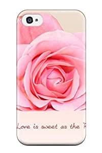Durable Defender Case For Iphone 4/4s Hard Cover(love Sweet As Rose)