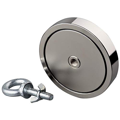 Mutuactor 2100LBS Magnetic Pull Force Neodymium Recovery Salvage Fishing Magnet