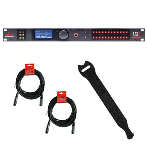 dbx AFS2 Dual-Channel Advanced Feedback Suppression Processor with (2) XLR- XLR Cable and 0.5 x 6