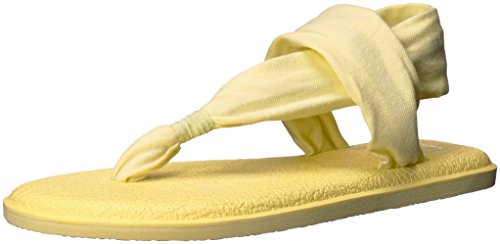 Sanuk Women's Yoga Sling 2 Spectrum Flip-Flop, Yellow pear,