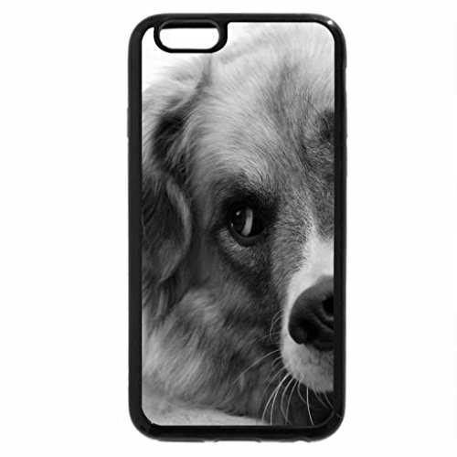 iPhone 6S Case, iPhone 6 Case (Black & White) - Dog
