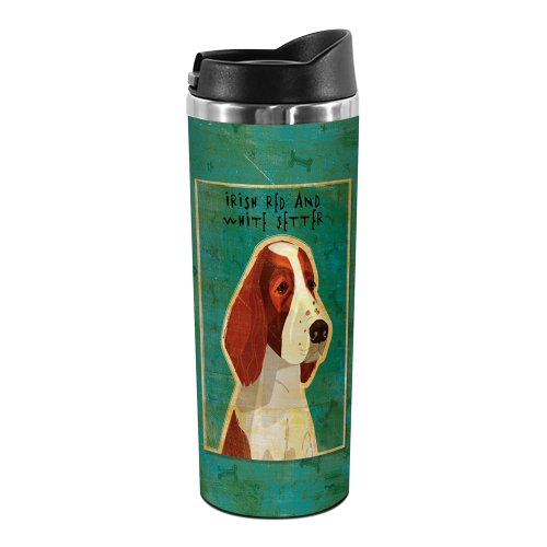 (Tree-Free Greetings TT02039 John W. Golden 18-8 Double Wall Stainless Steel Artful Tumbler, 14-Ounce, Red and White Irish Setter)