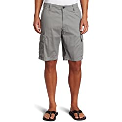 Dockers Men's Cargo Flat-Front Short, Sea Cliff - discontinued, 34W