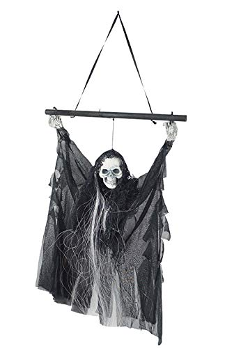 hanging skull halloween decoration ghost props glowing eyes