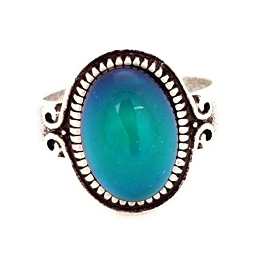 (Trendy Antique Sterling Silver Mood Ring in European Design (8))