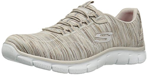 Skechers Women's Empire Game On Memory Foam Sneakers Shoes, Taupe, 7.5 B(M) US