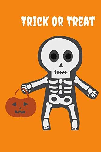 Trick or Treat: Halloween Kid Skeleton Themed Notebook -