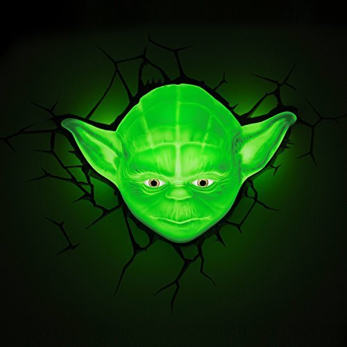 Star Wars Yoda 3D LED Wall Light With Remote