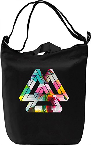 Three Triangles Borsa Giornaliera Canvas Canvas Day Bag| 100% Premium Cotton Canvas| DTG Printing|