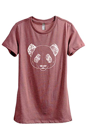 Thread Tank Floral Panda Women's Fashion Relaxed T-Shirt Tee Heather Rouge ()