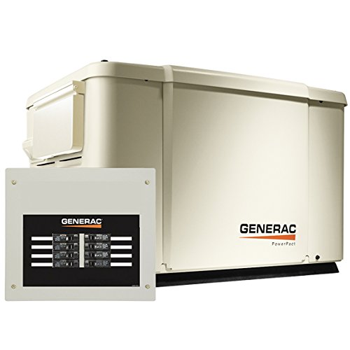 - Generac 6998 Guardian Series 7.5kW/6kW Air Cooled Home Standby Generator with 8 Circuit 50 Amp Transfer Switch