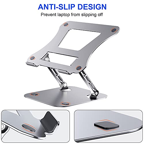 Adjustable Laptop Stand for Desk AOEVI Portable Notebook Stand Ergonomic Aluminum Laptop Riser Compatible with Tablet 10-15.6\