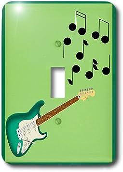 3dRose LLC lsp_23829_1 - Guitarra eléctrica con notas musicales ...