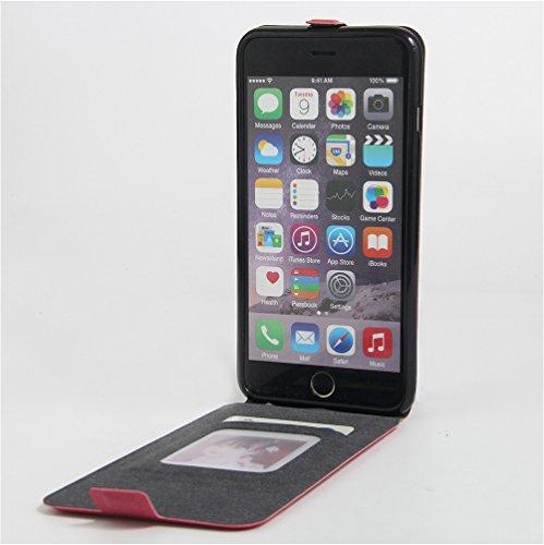 Funda iPhone 6 Plus/ iPhone 6S Plus,Manyip Caja del teléfono del cuero,Protector de Pantalla de Slim Case Estilo Billetera con Ranuras para Tarjetas, Soporte Plegable, Cierre Magnético D