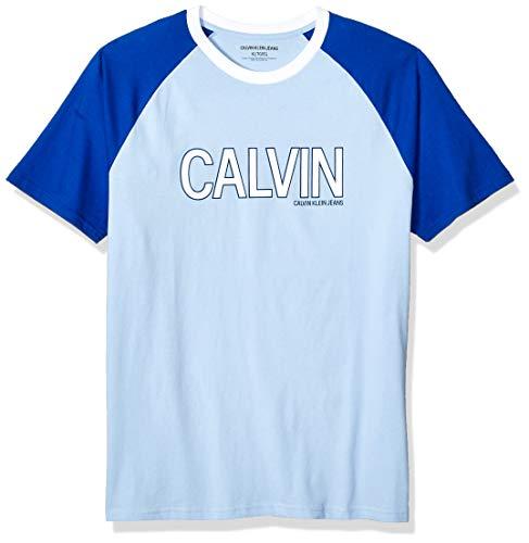 Calvin Klein Men's Athletic Logo T-Shirt, Chambray Blue, X-Large