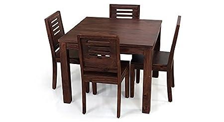 Urban Ladder Arabia Capra Four Seater Dining Table Set (Mahogany)