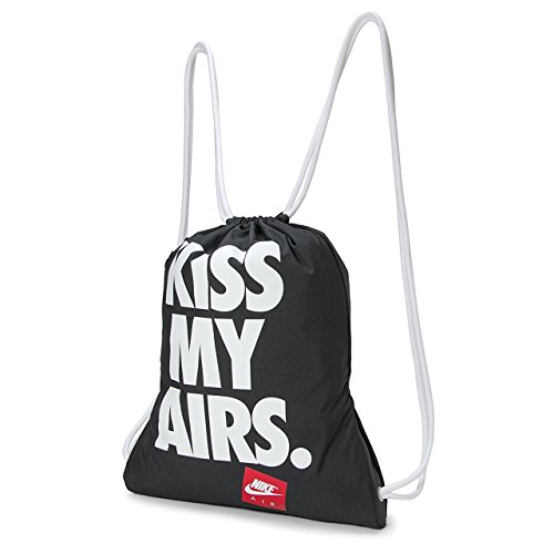 Air Kiss (Nike Kiss My Airs Heritage Graphic Drawstring Gymsack Black/White)