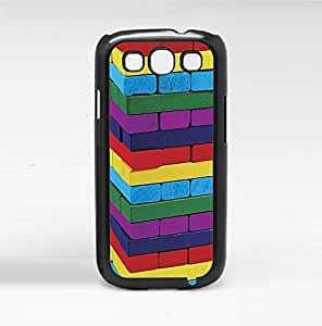Fun Colorful Stacked Blocks Hard Snap on Phone Case (Galaxy s3 III)