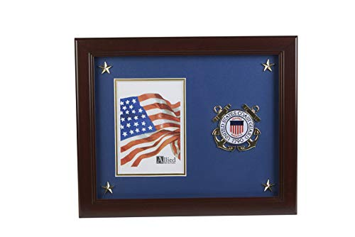 Coast Guard Photo Frame - Allied Frame US Coast Guard Medallion Portrait Picture Frame with Stars - 5 x 7 Inch