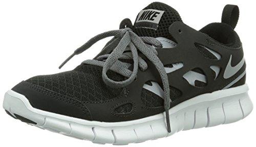 Nike Free Run 2 (Gs), Unisex Children's Running Shoes Black (Black/Wolf Grey-white-drk Grey 021)