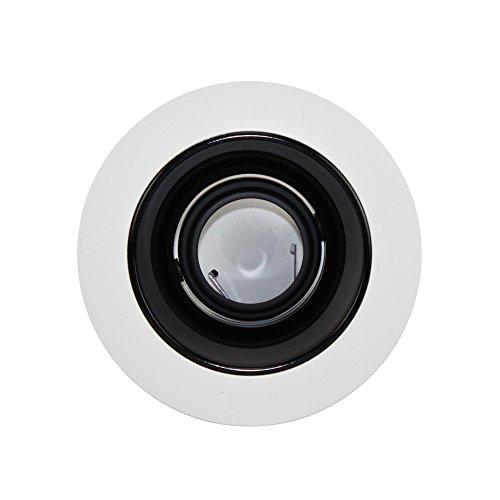 Juno Lighting 447B-WH 4-Inch Adjustable Cone Recessed Trim, Black Alzak with White (Alzak Cone Recessed Trim)