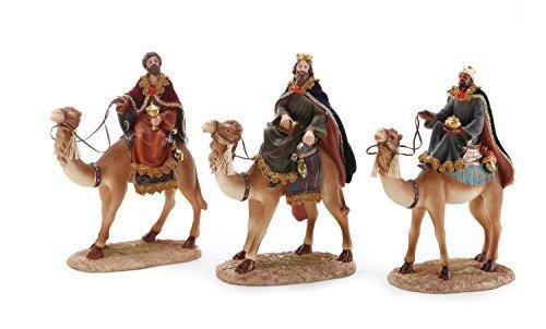 Nativity Story Three Wisemen (Magi Wisemen on Camels 13 inch Christmas Nativity Figurines Assorted Set of 3)