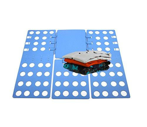 Adjustable Folding Hamper - Hysada Clothes/T Shirt Folder Adjustable Folding Board, Adult Dress Pants Towels T-shirt Folder/Shirt Folder/Laundry Folder Board Organizer, Blue
