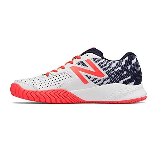 New Balance Frauen 696v3 Tennis-Schuhe Pigment / lebendige Koralle