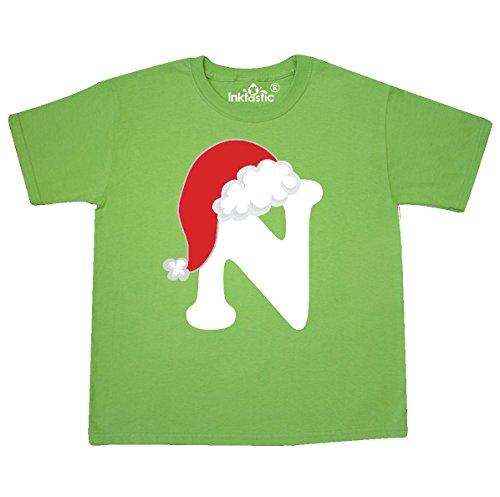 (inktastic - Christmas Santa Alphabet Youth T-Shirt Youth Small (6-8) Kiwi 33416)