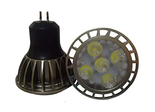 CTKcom MR16 5W LED Bulb GU5.3 Light Bulb(4 Pack)- Cool White 6000K LED Bulbs 50W Halogen Equivalent Ultra Bright 45 Degree Beam Angle Recessed Track Light Landscape 350 Lumen MR16 Spot Lamps 12V,Black