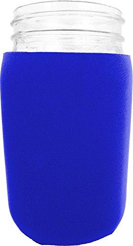 Jar-Z Mason Jar Jacket, 32 oz, Blue Blue 32 Ounce Quart