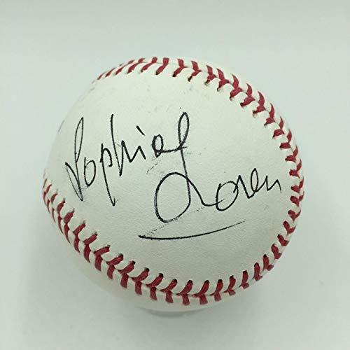 Sophia Loren Signed Official Major League Baseball With Beckett COA Celebrity - Beckett Authentication ()