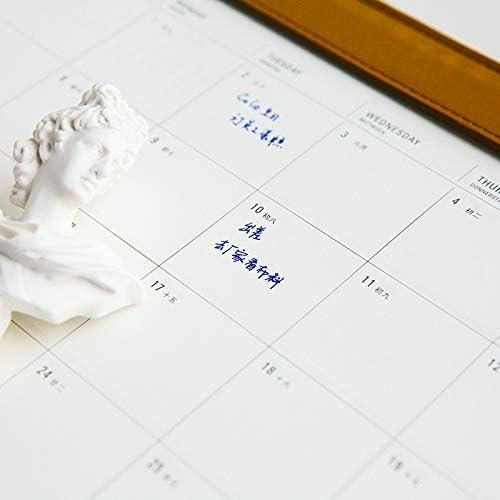 Tischkalender Kalendarien 2020 Jahr Kreative PU Desktop Calendar A4 Büro-Schreibtisch-Mat Tabelle Kalender Tagesterminplaner 2019,08~2020,12 (Color : Red)