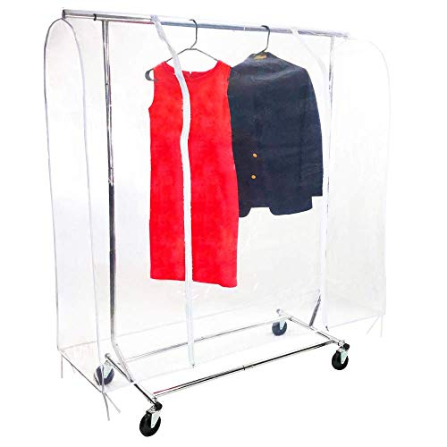 Clear 5 ft Clothing Rack Cover - Dustproof & Waterproof PEVA Material - Portable Transparent Garment Rack Covers (Medium 5ft: 60 X 20 X 59 inch) by Star Trust