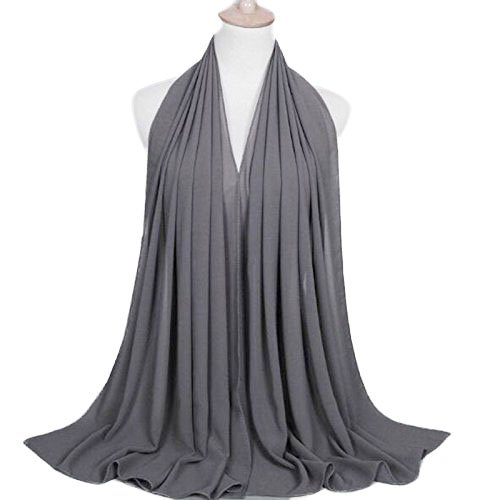 Thick Chiffon Muslim women Hijab Long cover Scarf Hijab (silver) by Hiym