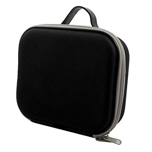 eDealMax Cremallera de Doble caja de almacenamiento Duro viaje de Nylon Universal caja de la cámara 20cmx18cmx6cm Negro B07GLKWH4Q