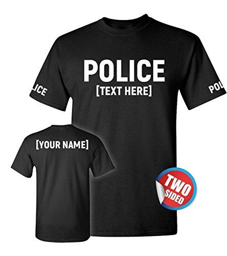 Patriotic Ville Police T Shirt for Raid - Law Enforcement Officer Tshirts for Men - Cop Uniform -
