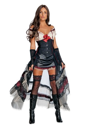 Lilah Jonah Hex Costume (Secret Wishes Jonah Hex Lilah Costume, Multi, Small)