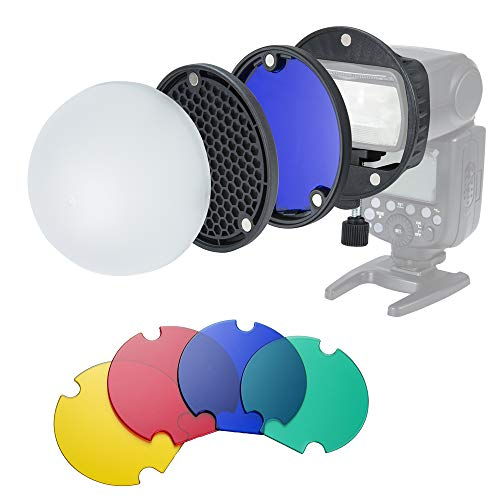 INSSTRO Flash Diffuser Light Softbox Speedlite Flash Accessories Kit with