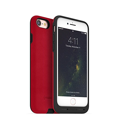 mophie Charge Force case - Made for Apple iPhone 8 and iPhone 7 - Works with Qi and Other Wireless Charge Systems- Not a Battery Case - Red